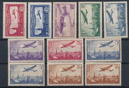 EC-717: FRANCE: Lot Avec Poste Aérienne* N°5/13 (2 N°13) - 1927-1959 Nuovi
