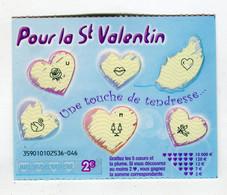 Ticket Jeu °_ St-Valentin-bleu Ciel-5 Coeurs.Etoile-2536.46 - Lottery Tickets