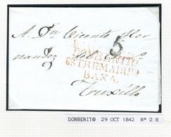 ESPAÑA  Carta De DONBENITO ESTREMADURA BAXA  1842 Hasta TRUJILLO PR 49 - ...-1850 Prephilately