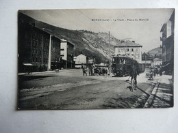 CPA 39 JURA - MOREZ : Le Tram - Place Du Marché - Morez