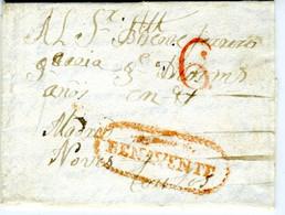 ESPAÑA  Carta Con Marca De BENAVENTE 1836  Desde ESPADAÑEDO ZAMORA  PR 51 - ...-1850 Voorfilatelie