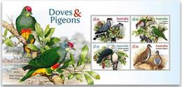 Australia 2021 MS MNH Doves And Pigeons Birds Bird Oiseaux Oiseau - Columbiformes