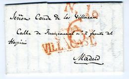 ESPAÑA  Carta  De VILLACASTIN 1829  Hasta MADRID   PR 52 - ...-1850 Voorfilatelie