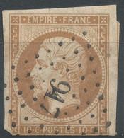 Lot N°62115    N°13Ac Bistre Brun, Oblitéré PC 917 Combles, Somme (76), Ind 7 - 1853-1860 Napoleon III