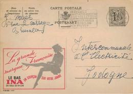 Ganzsache Publibel 1419 - Schleier Strumpf Ina Luxuriös - Luxus Auf Ihrem Bein - Verführung - Brüssel 1957 - Publibels