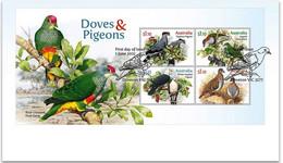 Australia 2021 FDC Doves And Pigeons Birds Bird Oiseaux Oiseau - Columbiformes