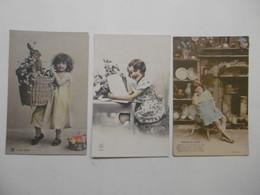 Fantaisie Portrait S ENFANTS FILLETTES - Petites Filles - Lot De 3 Cartes Postales - Portraits
