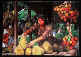 ► La Vendeuse De DURIANS - The King Of Local Fruit - Malaysie Indonesie (Maxicard) - Mercati