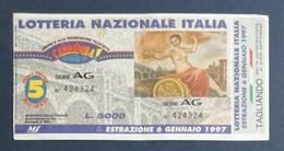 36149 30/ Biglietto LOTTERIA NAZIONALE Italia 1996 - Lottery Tickets