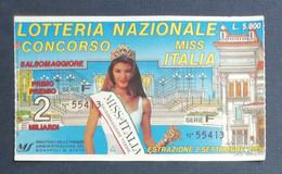 67989 21/ Biglietto LOTTERIA NAZIONALE Miss Italia Salsomaggiore 1995 - Lottery Tickets