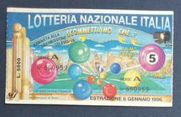 67992 19/ Biglietto LOTTERIA NAZIONALE Scommettiamo Che ? 1996 - Lottery Tickets
