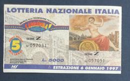 68005 13/ Biglietto LOTTERIA NAZIONALE D'Italia 1996 - Lottery Tickets