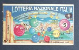 68030 08/ Biglietto LOTTERIA NAZIONALE D'Italia 1996 Scommettiamo Che...? - Lottery Tickets