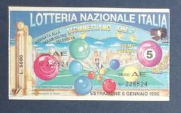 68032 06/ Biglietto LOTTERIA NAZIONALE D'Italia 1996 Scommettiamo Che...? - Lottery Tickets