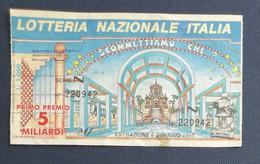 68033 05/ Biglietto LOTTERIA NAZIONALE D'Italia 1995 Scommettiamo Che...? - Lottery Tickets