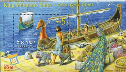 Israel 2019, King Solomon's Ship, MNH S/S - Unused Stamps (with Tabs)