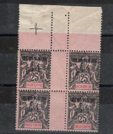Indo-chine _ Tch'ong- K' Ing_  Surcharge Bilingue  Bloc De 4 Timbres N°10 - Ungebraucht