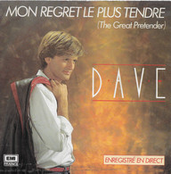 """Dave 45t. SP """"mon Regret Le Plus Tendre"""" - Other - French Music"""