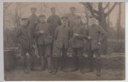 (F16230) Orig. Foto Deutsche Soldaten 1.WK, Gruppenbild Im Freien 1914-18 - Guerra, Militari