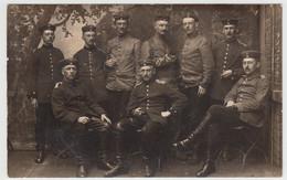 (F16232) Orig. Foto Deutsche Soldaten 1.WK, Gruppenbild Im Freien 1914-18 - Guerra, Militari
