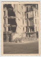 (F1632) Orig. Foto 2.WK Zerstörtes Großes Gebäude, 1940er - Guerra, Militari