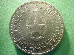 Casino  Tanzania  Gaming Token Dollar Size. Nickel - Casino