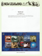 Belgica 2001 Miniature Sheet MNH/neuf ** On N-Z  Official Presentation Sheet - Unused Stamps