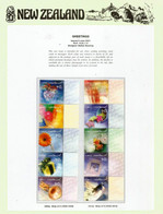 2001 Greetings (Message Stamps) 10 Val.MNH/neuf ** On N-Z  Official Presentation Sheet - Unused Stamps