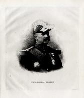 Print 1920 France Fleet French Navy Admiral Charles Aubert - Prints & Engravings