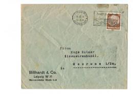 Perfin !!! - DR Brief Leipzig Nach Meerane - O 1934 - Billhardt & Co. - Covers & Documents