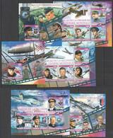 XZ0051-3 2016 WORLD WAR I & II VEHICLES AVIATION WWI WWII 3BL+3KB MNH - 2. Weltkrieg