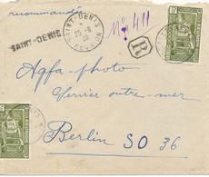 SAINT-DENIS / REUNION  -  1936  ,  R-Brief An Agfa In Berlin - Covers & Documents