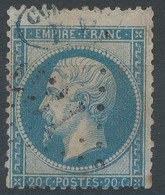 Lot N°62130   N°22, Oblitéré, Voir Cachet Bleu Dans Un Ovale - 1862 Napoleone III