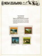 New-Zealand Four Seasons Set.  MNH/neuf ** On N-Z  Official Presentation Sheet - Errors, Freaks & Oddities (EFO)
