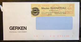 Belgium - Advertising Meter Franking Cut EMA 1962 Shaerbeek Duchateau Grinding Wheels - 1960-79