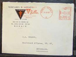Belgium - Advertising Meter Franking Cover Front EMA 1962 Ronse - Renaix Ink - 1960-79