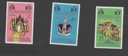 FD Nouvelles-Hébrides / New Hebrides ** 1977 444/446 25eme Anniversaire Accession Au Trône - Zonder Classificatie