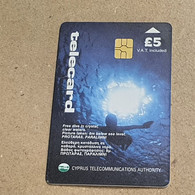 CYPRUS-(1299CY-A)-Free Dive In Crystal-(179)-(5£)-(6/1999)-(1299CY01766617)-used Card+1card Prepiad Free - Cyprus