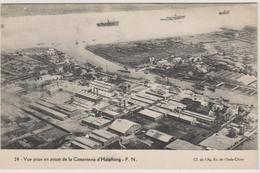 VIET-NAM - VUE PRISE EN AVION DE LA CIMENTERIE D'HAÏPHONG - Bateaux - Vietnam