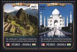 Peru 2013, 50th Anniversary Of Diplomatc Relation Between Peru And India, MNH Stamps Strip - Peru