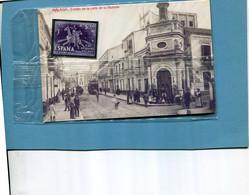ESPAGNE-Carte MALAGA Ermita De La Calle De La Victoria+vinetas-vignette-pegatina De Metal Libre Sin Peg1986 Sous Blister - Málaga