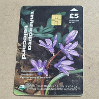 CYPRUS-(1400CY-A)-Cyprian Glory Of The Snow-(182)-(5£)-(6/2000)-(1400CY03918267)-used Card+1card Prepiad Free - Cyprus