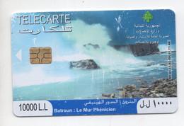 Batroun, Phenicien Wall, 2008 Used Phonecard, Lebanon , Liban Telecarte Libanon - Libanon