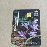 CYPRUS-(1400CY-A)-Cyprian Glory Of The Snow-(184)-(5£)-(6/2000)-(1400CY03934190)-used Card+1card Prepiad Free - Cyprus