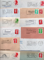 Lot De 50 Lettres Pour Flammes Sur Enveloppe Complète - Région Centre - Possibilité De Réduite La Dimension De La Flamme - Annullamenti Meccanici (pubblicitari)