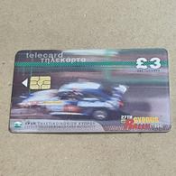 CYPRUS-(1499CY-A)-27th Cyprus Rally-(185)-(3£)-(9/1999)-(1499CY01941958)-used Card+1card Prepiad Free - Cyprus