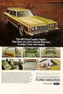 Publicité Papier VOITURE FORD COUNTRY SQUIRE WAGON Jan 1973 NG P1051191 - Pubblicitari