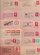 Lot De 50 Lettres Pour Flammes Sur Enveloppe Complète - FRANCE - Possibilité De Réduite La Dimension De La Flamme - Annullamenti Meccanici (pubblicitari)