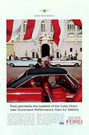 Publicité Papier VOITURE FORD FAIRLANE FALCON Mar 1963 NG P1050900 - Pubblicitari
