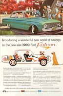 Publicité Papier VOITURE FORD FALCON Nov 1959 NG P1050856 - Pubblicitari